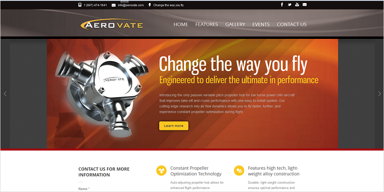 Aerovate Website After